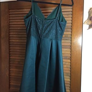 Charlotte Russe Dresses - Forest green homecoming dress